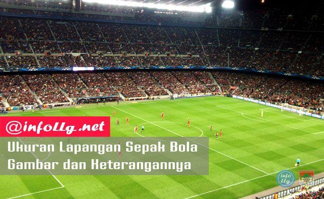 Ukuran Lapangan Sepak Bola Beserta Gambar Dan Keterangannya Terlengkap Http Www Infollg Net 2017 07 Ukuran Lapangan Sepak Bola Lapangan Sepak Bola Pengukur