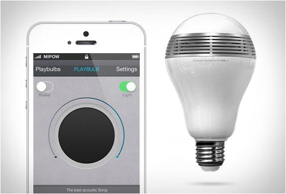 Playbulb - Bluetooth speaker + light bulb $90 #gadget