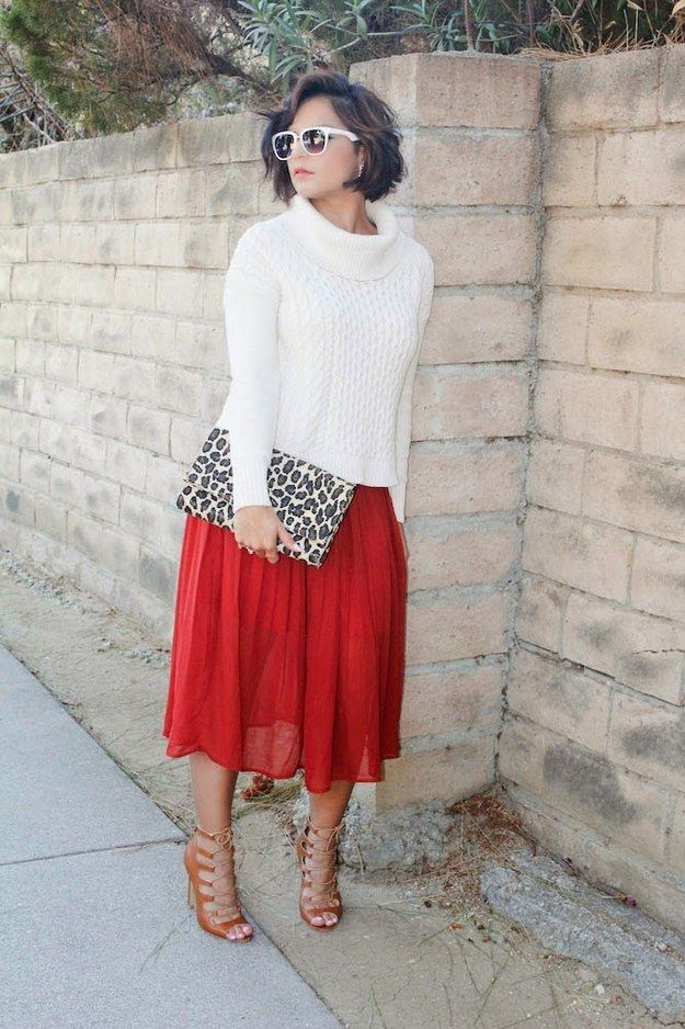 Short girls look for below-the-knee length... | Look., Skirts and ...