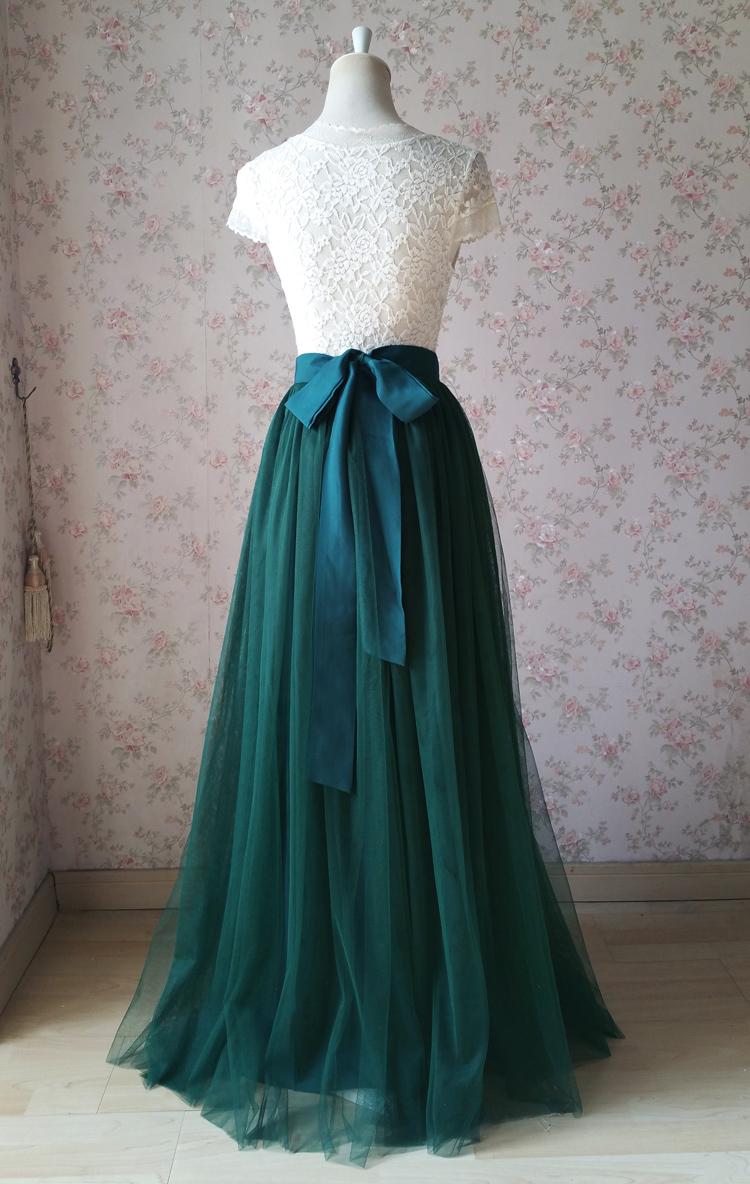 Sage green tulle maxi skirt  sea glass green long skirt floor length  light green Tulle Skirt Custom Made Skirt  bridesmaids skirt