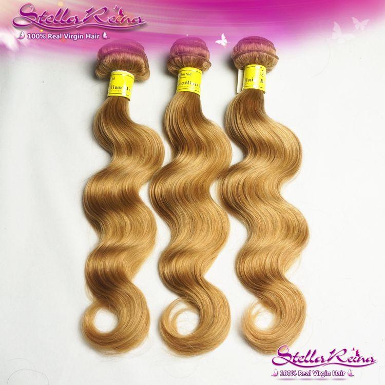 Honey Blonde Brazilian Hair Body Wave Color 27 Brazilian Virgin