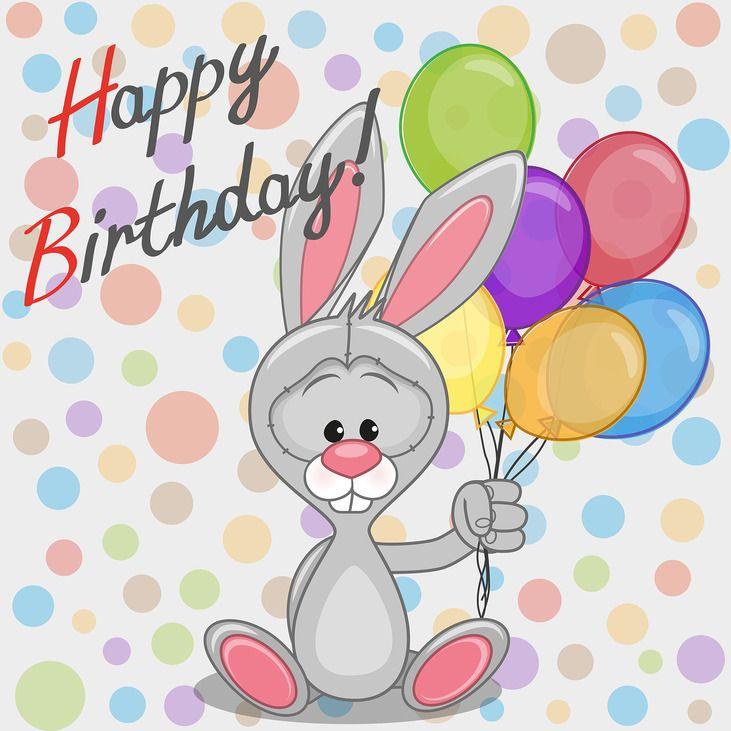 Красивыми пожеланиями, открытка заяц с шариками