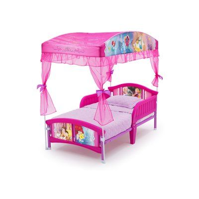 Delta Children Disney Princess Toddler Canopy Bed Princess