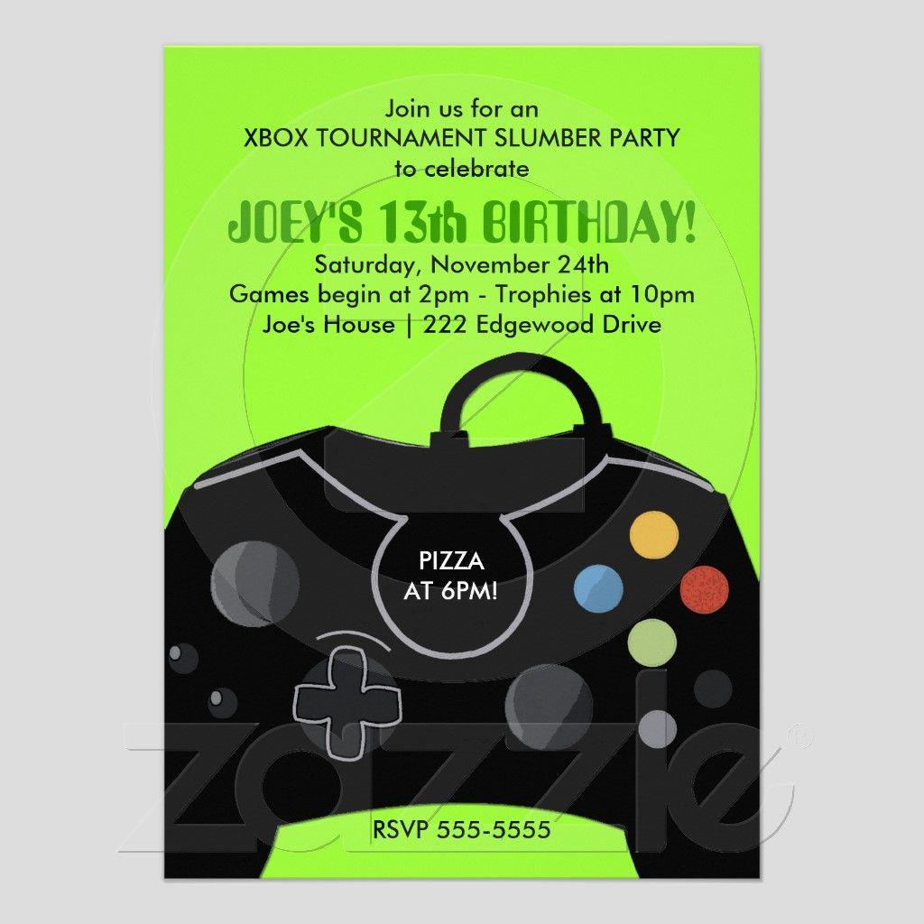 BOYS Birthday Video Game Station Party Invitation | Game Shop ...
