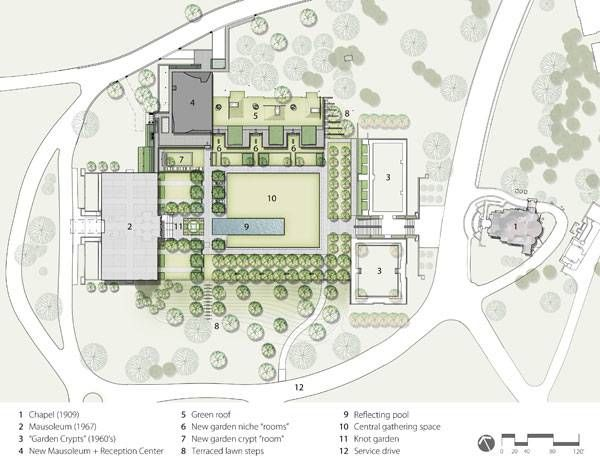 Landscape Architecture Plan Of The Lakewood Garden