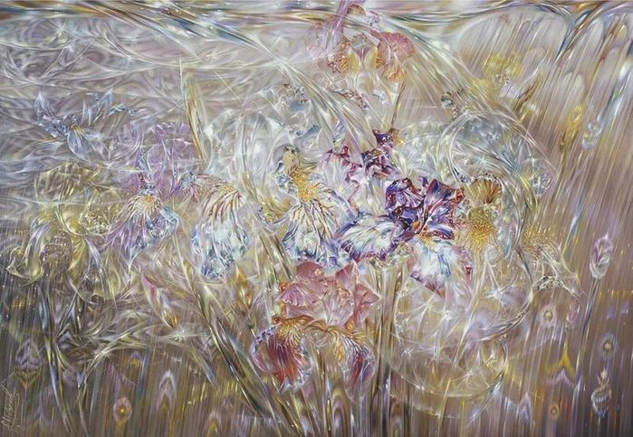 """Irises  \\ Artist - Alexander Maranov \\ other pictures on the board """"  woman - painting """""""