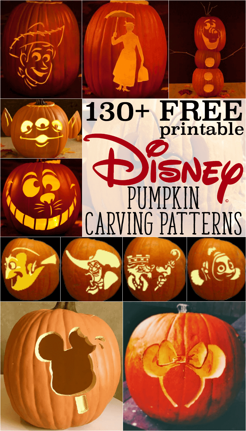 Disney Pumpkin Stencils: Over 130 Printable Pumpkin Patterns ...