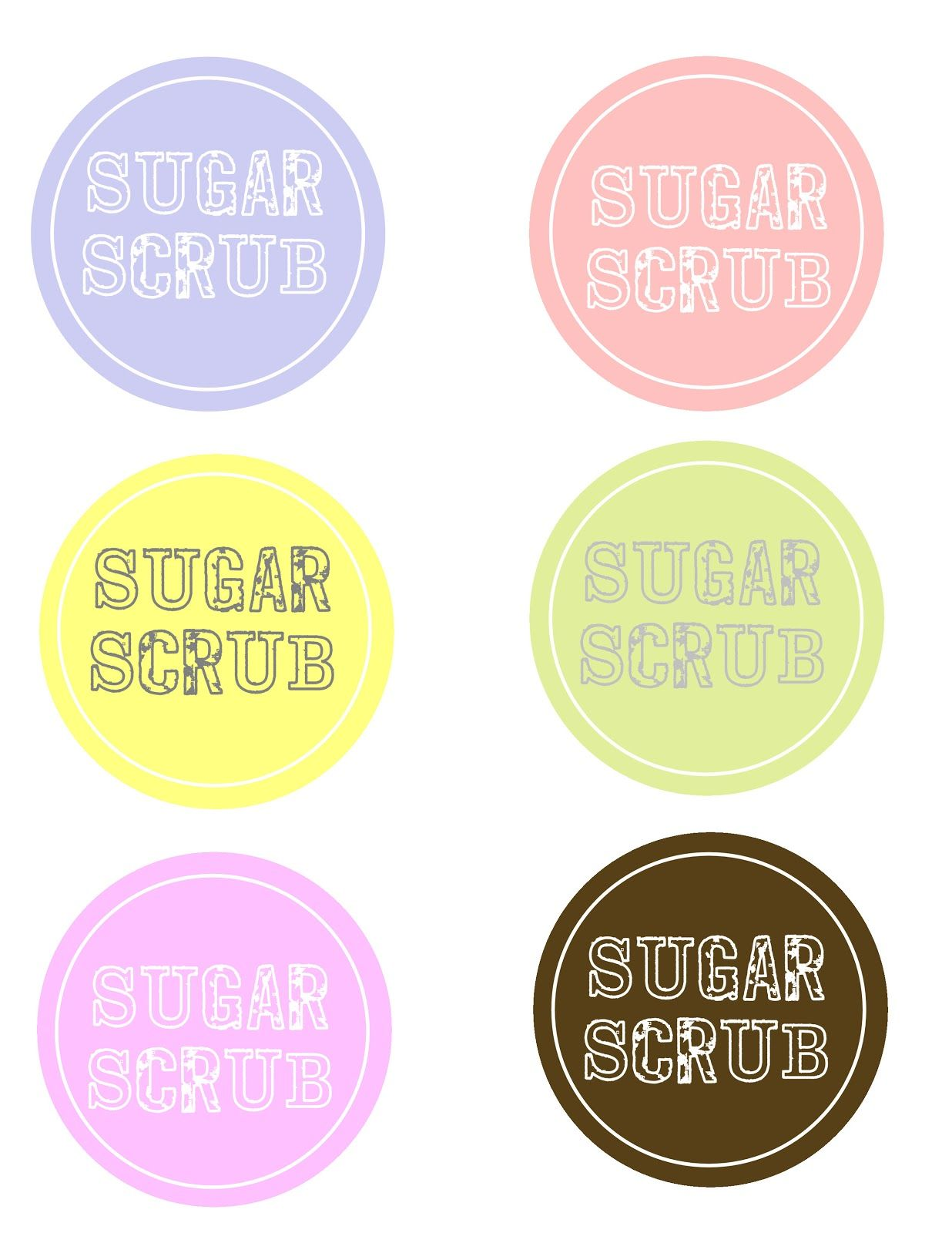 Sugar Scrub And Free Labels
