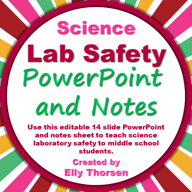 Science Lab Safety PowerPoint & Interactive Notebook Pages