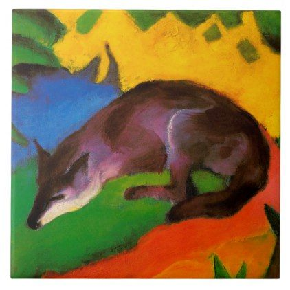 Franz Marc Blue Black Fox Vintage Fine Art Print