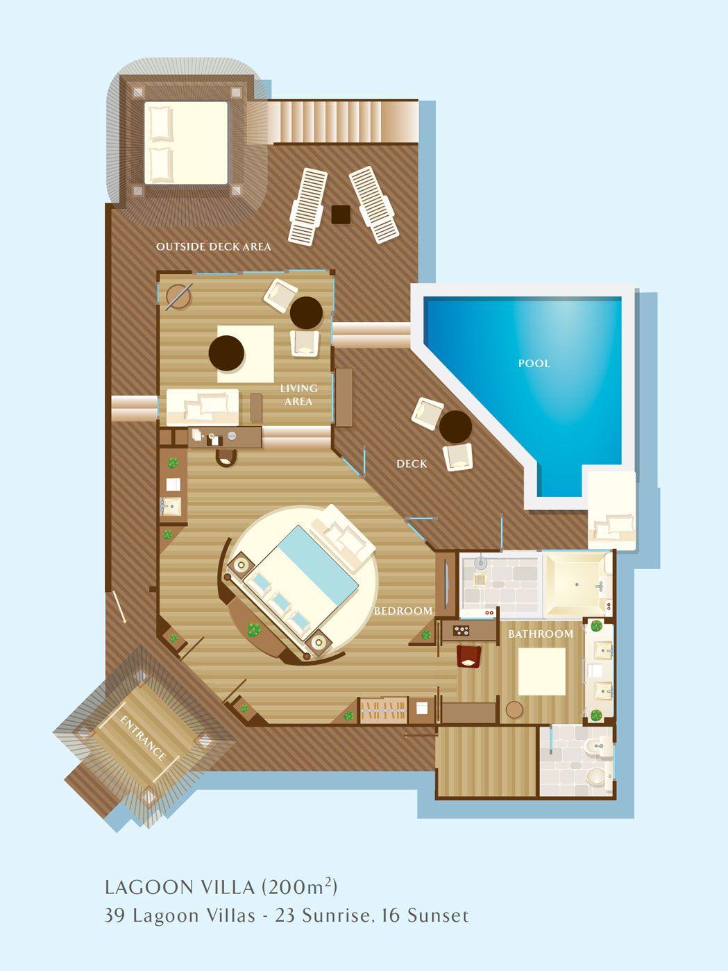 Jumeirah Vittaveli Resort In Maldives Resort Plan Hotel Room Plan Hotel Plan