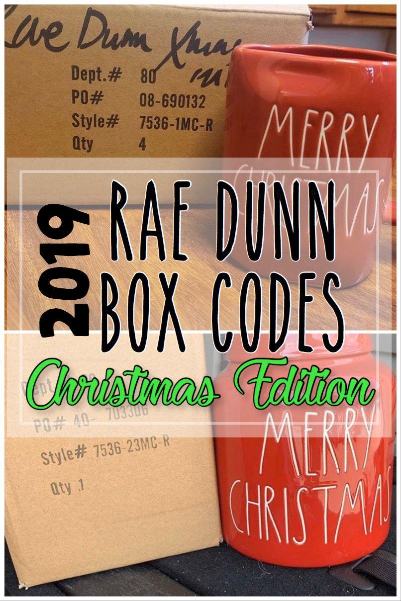 Rae Dunn Christmas Box Codes 2019 With Images Rae Dunn