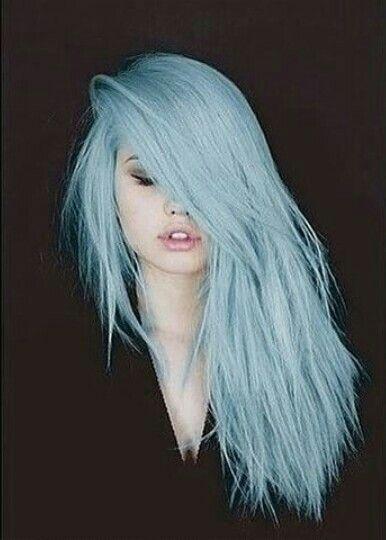 cheveux bleu Cheveux, Coiffure et Couleur cheveux