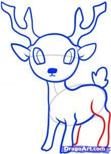 How To Draw A Fawn Deer Drawing Easy Deer Drawing Deer Cartoon