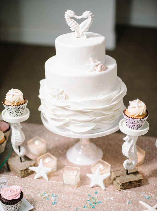 ivory wedding cake - photo by Shannon Moffit Photography http://ruffledblog.com/irish-mist-wedding-inspiration