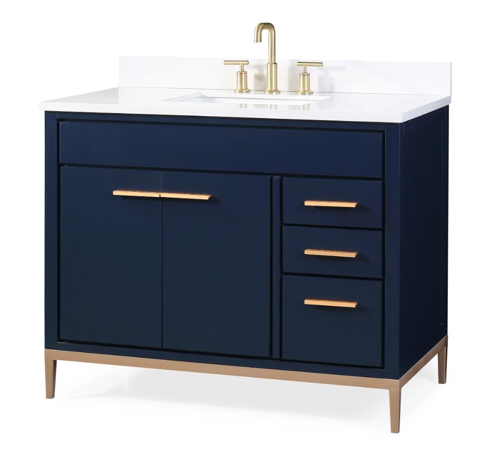 42 Tennant Brand Beatrice Navy Blue Modern Bathroom Sink Vanity Tb 9444nb V42 In 2020 Modern Bathroom Sink Blue Bathroom Vanity Bathroom Sink Vanity
