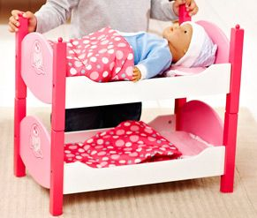 Cup Cake Baby Bunkbeds Let S Pretend Doll Houses Accessories