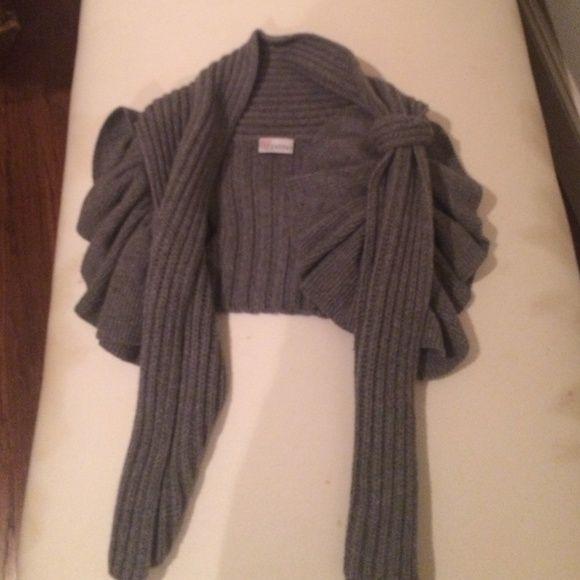 Valentino sweater ruffle cropped vest Valentino sweater with ruffles Valentino Sweaters