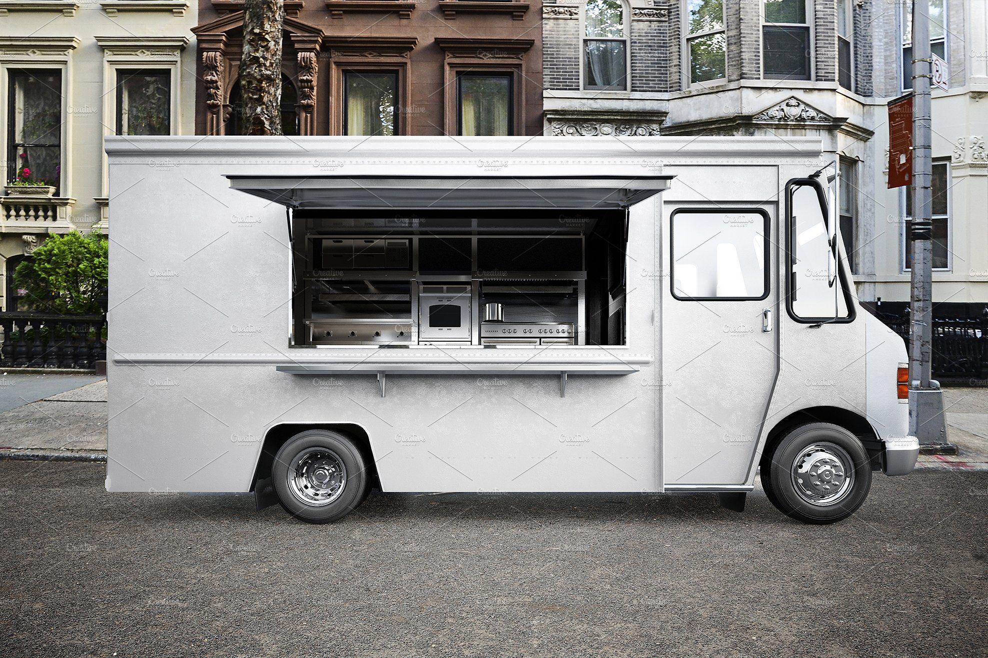 Food Truck Psd Mockup Food Truck Food Ice Cream Shop