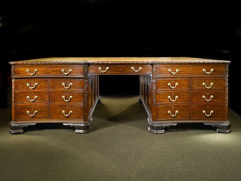 This Rare Victorian Partner S Desk Boasts Incredible Size And