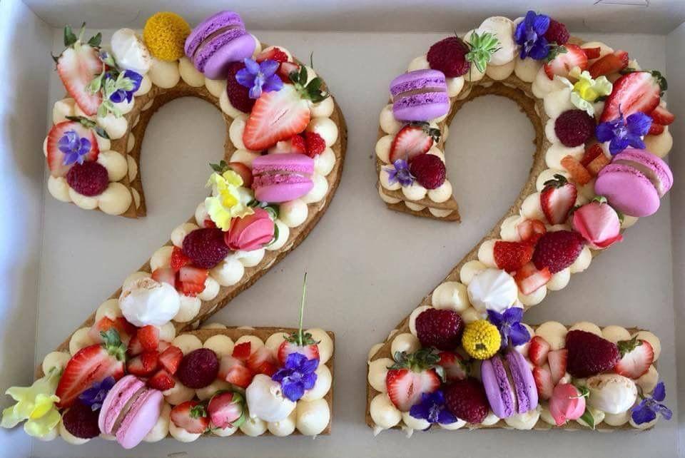 number 22 birthday cookies