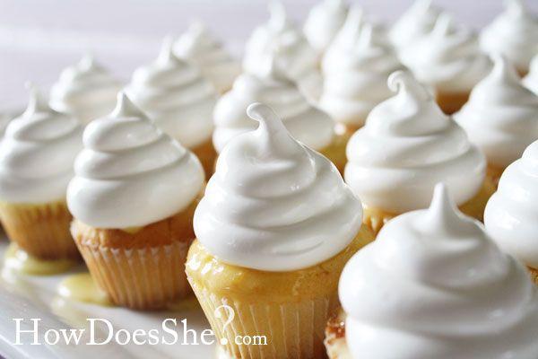 Mini Lemon Meringue Cupcakes Recipe Lemon Lemon cupcakes and