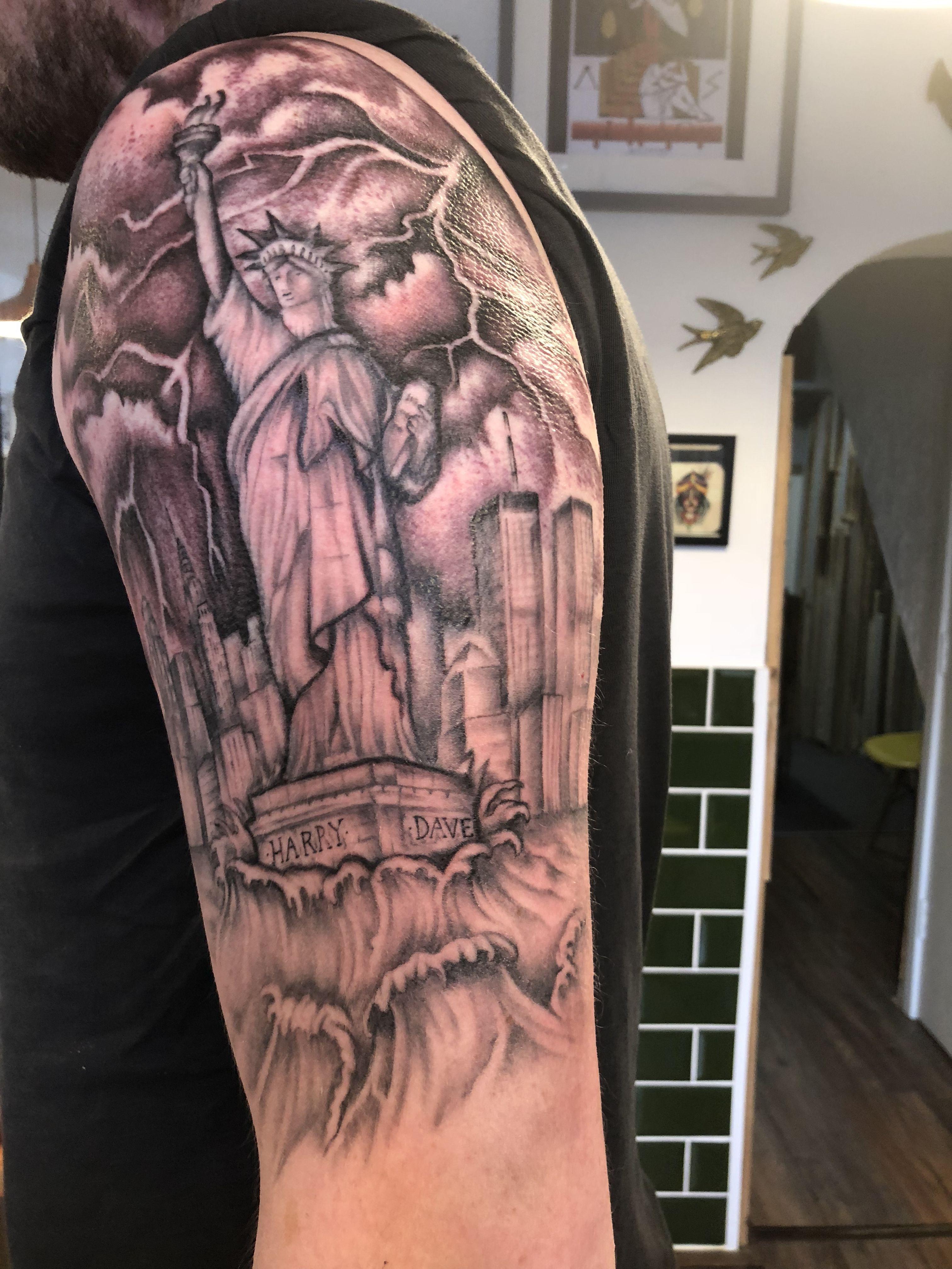 New York Half Sleeve Tattoo Sleeve Tattoos Half Sleeve Tattoo Tattoos