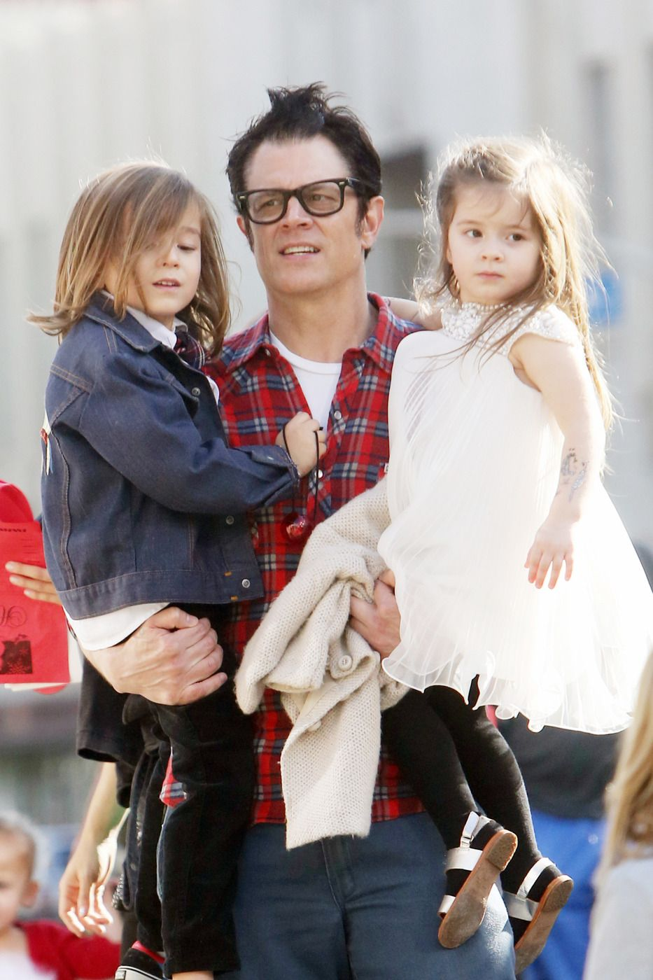 Johnny Knoxville Out with Son Rocco and Daughter Arlo ...