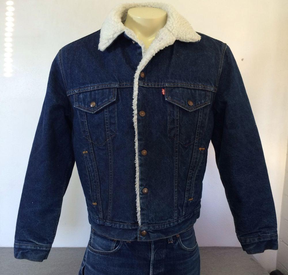 Vintage Levi S Denim Sherpa Jacket Insulated 527 Usa Jean Trucker Dark Wash 42r Denim Sherpa Jacket Usa Jeans Jackets [ 955 x 1000 Pixel ]