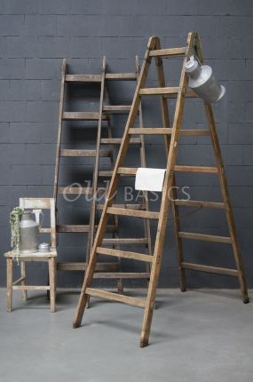 Robuuste Houten Ladder.Oude Houten Ladder Old Basics Webshop Voor Unieke Oude Meubels