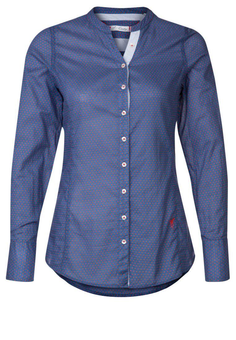 Emily Van Den Bergh Blouse Blue Love A Shirt Without A Collar Blue Blouse Long Sleeve Tops Blue Tops