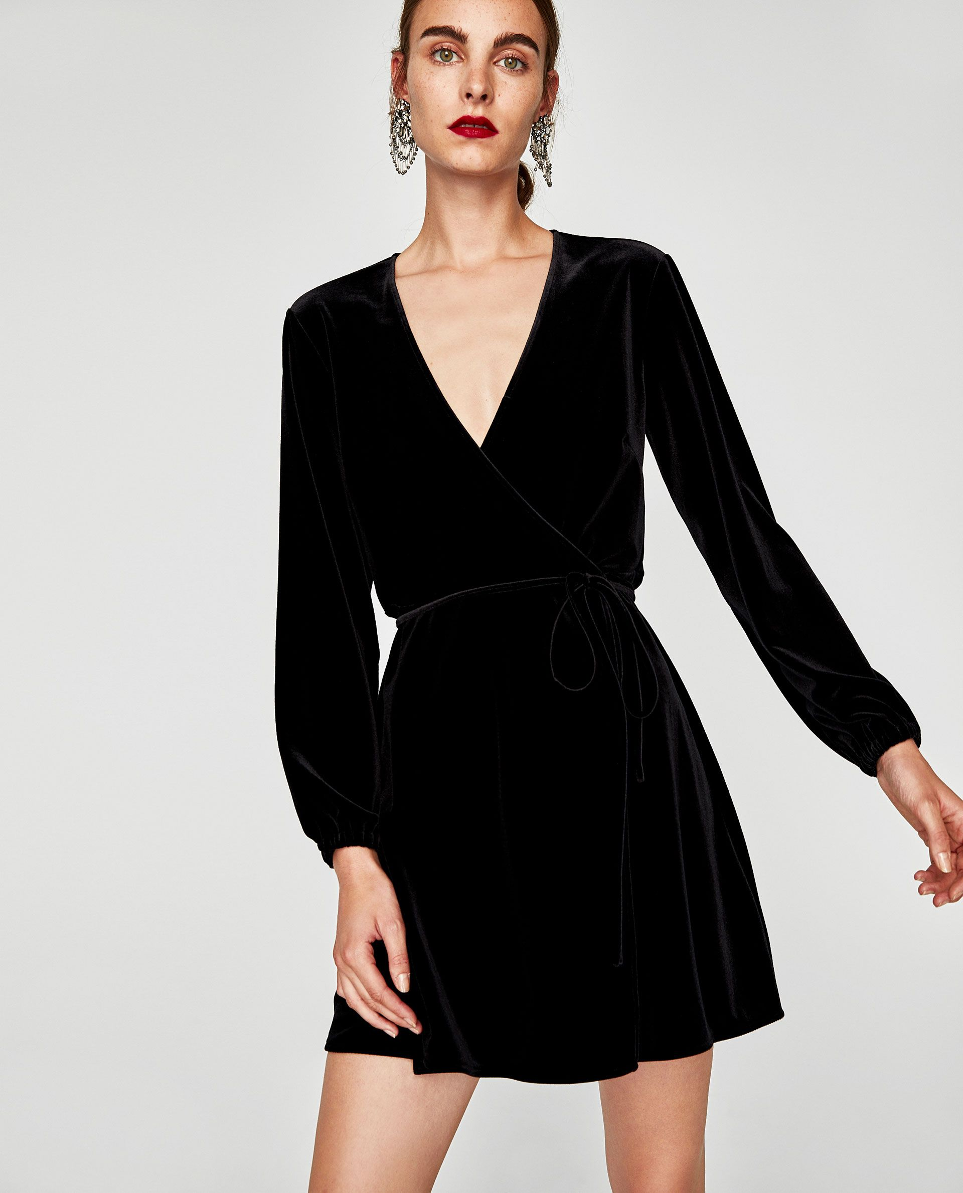 cd924928fb3 Image 2 of VELVET MINI WRAP DRESS from Zara