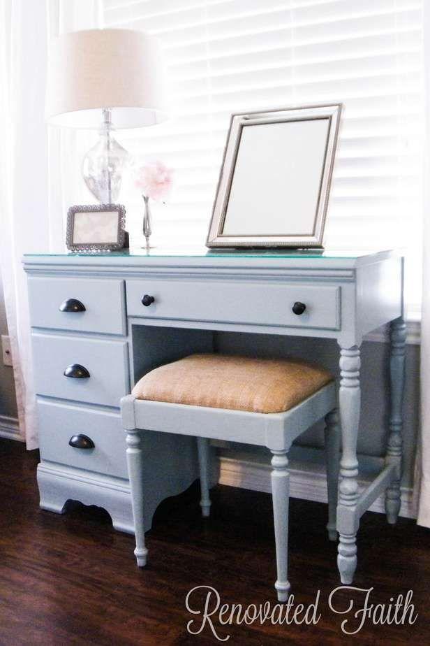 DIY Vanity Desk Transformation (How God Transforms Our Brokenness) images