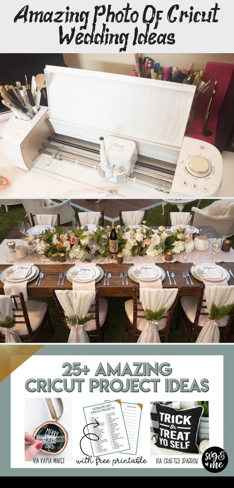Amazing Photo Of Cricut Wedding Ideas Cricut wedding