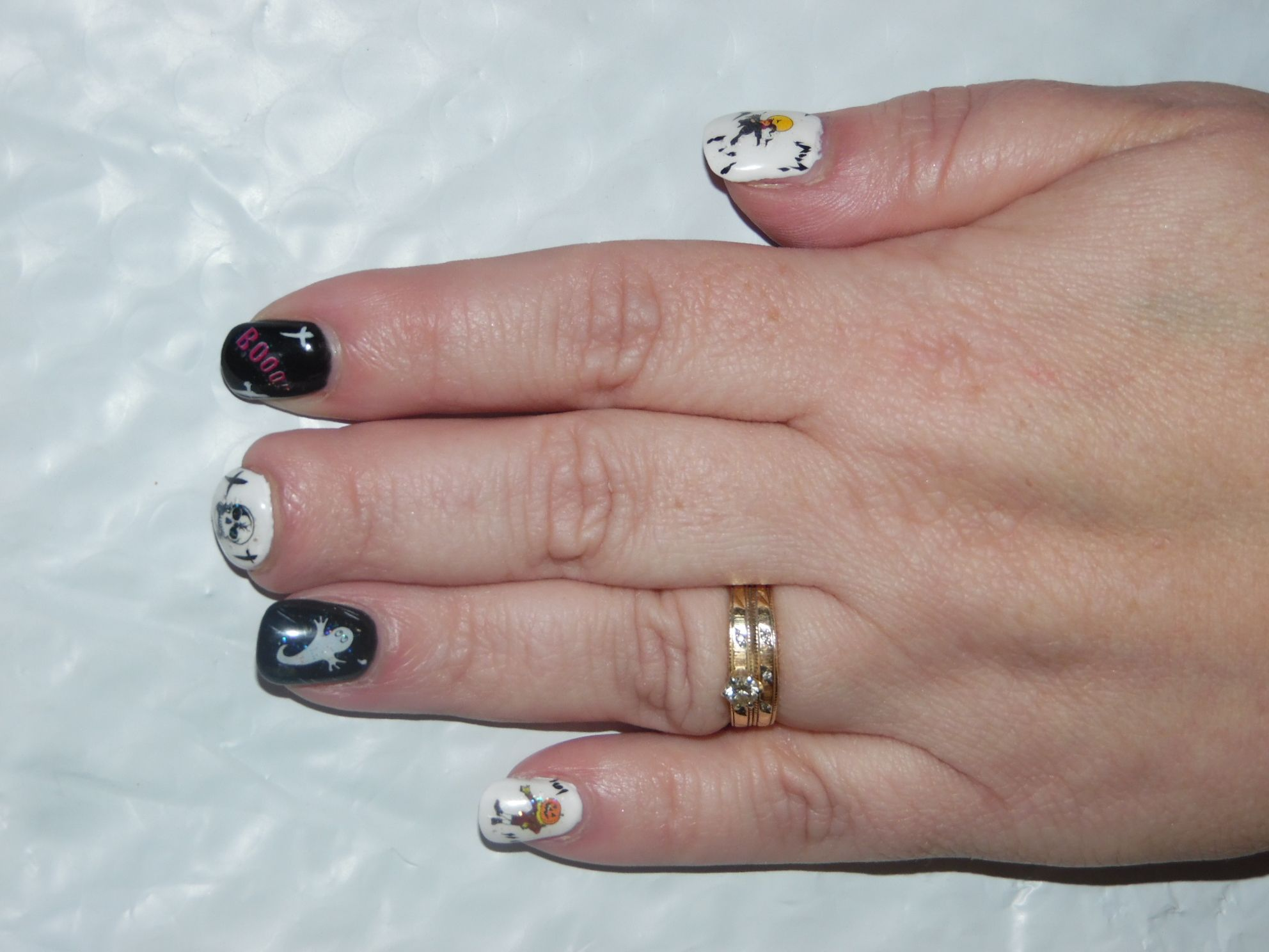 my halloween manicure, donelana at glamorous nails in beaverton