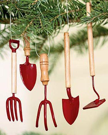 Garden Tool Ornaments, Set of 5