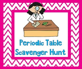 Periodic table scavenger hunt periodic table chemistry and activities this is an activity that i used with a middle school science class but could be adapted i used it after we had gone over the periodic table and urtaz Images