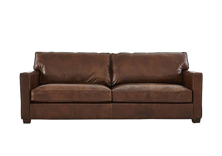 Stylish, luxury handcrafted 3 seater leather sofa Classic ...