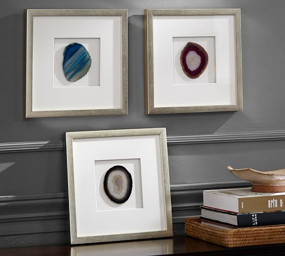 diy agate art framed blue agate slices dans le lakehouse.htm framed agate shadow box  with images  pottery barn decor  unique  framed agate shadow box  with images