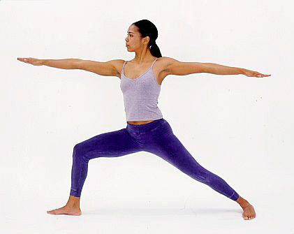 warrior 2 prepare for battle  yoga for knees yoga for