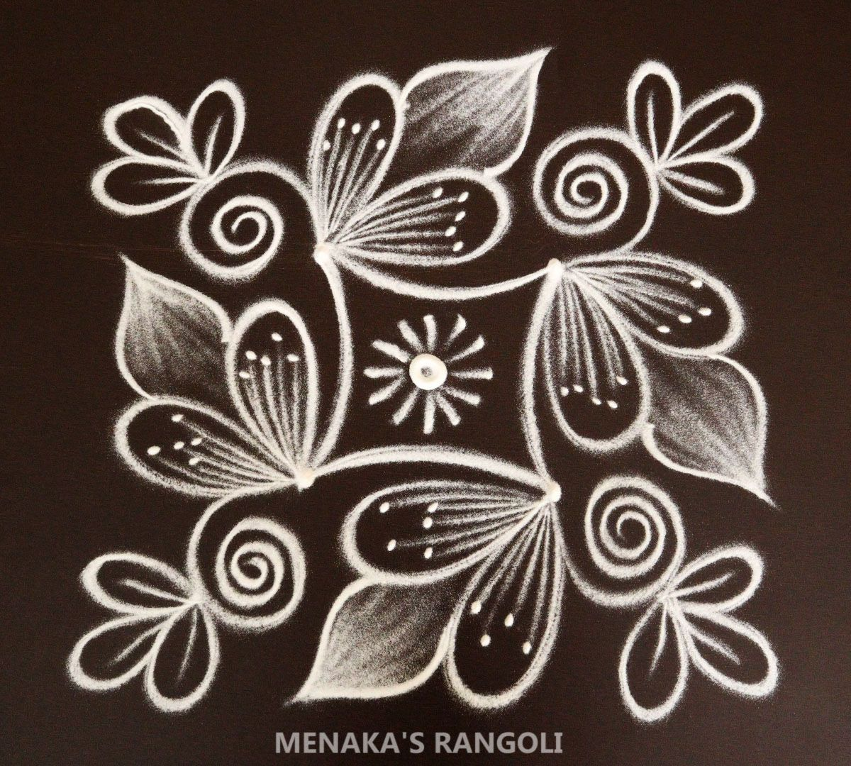 Simple 2*2 Dots Rangoli Design | Simple Kolam Designs With Dots | Easy Chukkala Muggu | #Rangoli