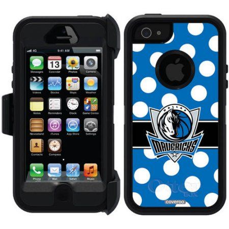 Dallas Mavericks Polka Dots 2 Design on OtterBox Defender Series Case for Apple iPhone 5/5s