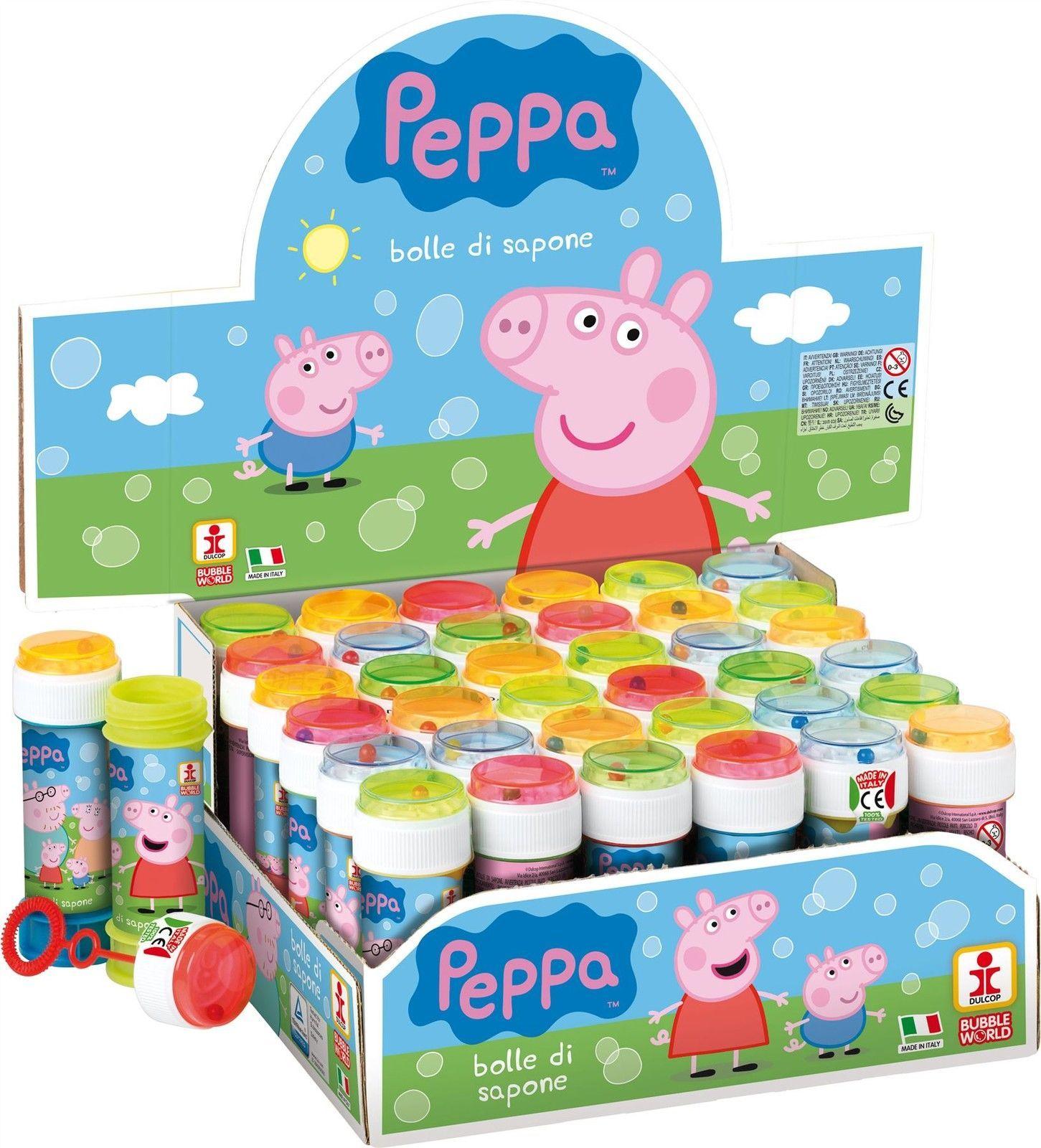 Peppa Pig Bubbles Bubble Tubs Childrens Party Bag Filler Puzzle Maze ...