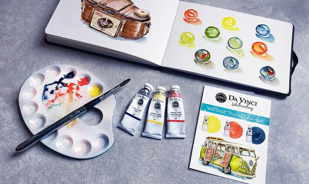 Da Vinci Trio Watercolor Sets New Vintage Set Melting