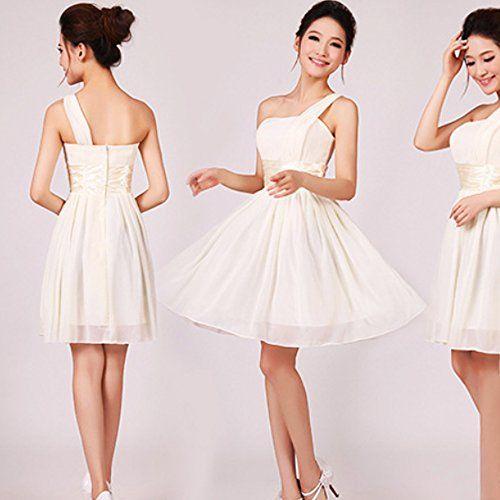 Fashion Elegante Kurz Damen Kleid Chiffon Festkleider ...