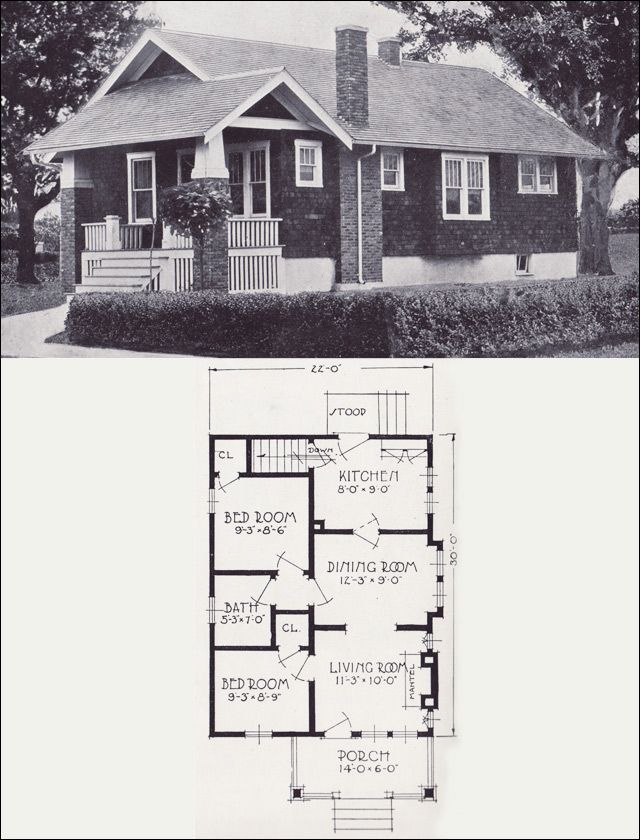 1926 Standard Homes Company Plan The Cliftonone Htm Craftsman Bungalow House Plans Vintage House Plans Craftsman Style House Plans