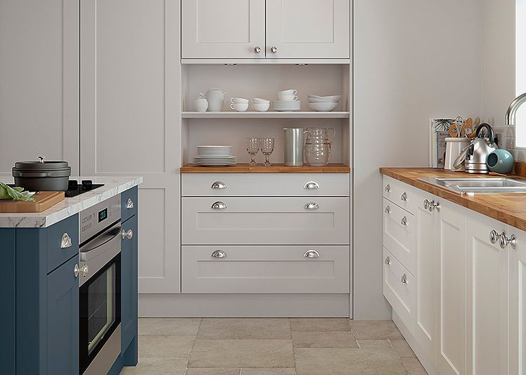 B Q Offers An Eight Unit It Sandford Kitchen For 788 Shown Here Is An Optional Extra A Romesco Smart Space Sink Sink Kitchen Decor Styles Home Renovation