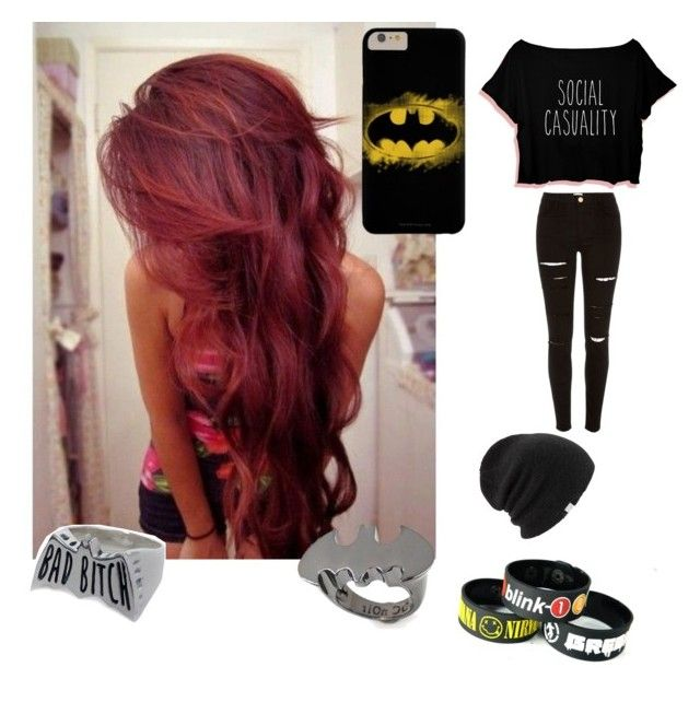 """""""Untitled #44"""" by suicidxlsnorlx ❤ liked on Polyvore featuring River Island, Coal, Noir and Social Decay"""