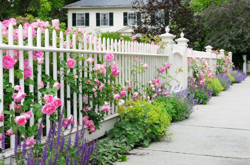 40 Beautiful Garden Fence Ideas Garden Fence Fence Landscaping