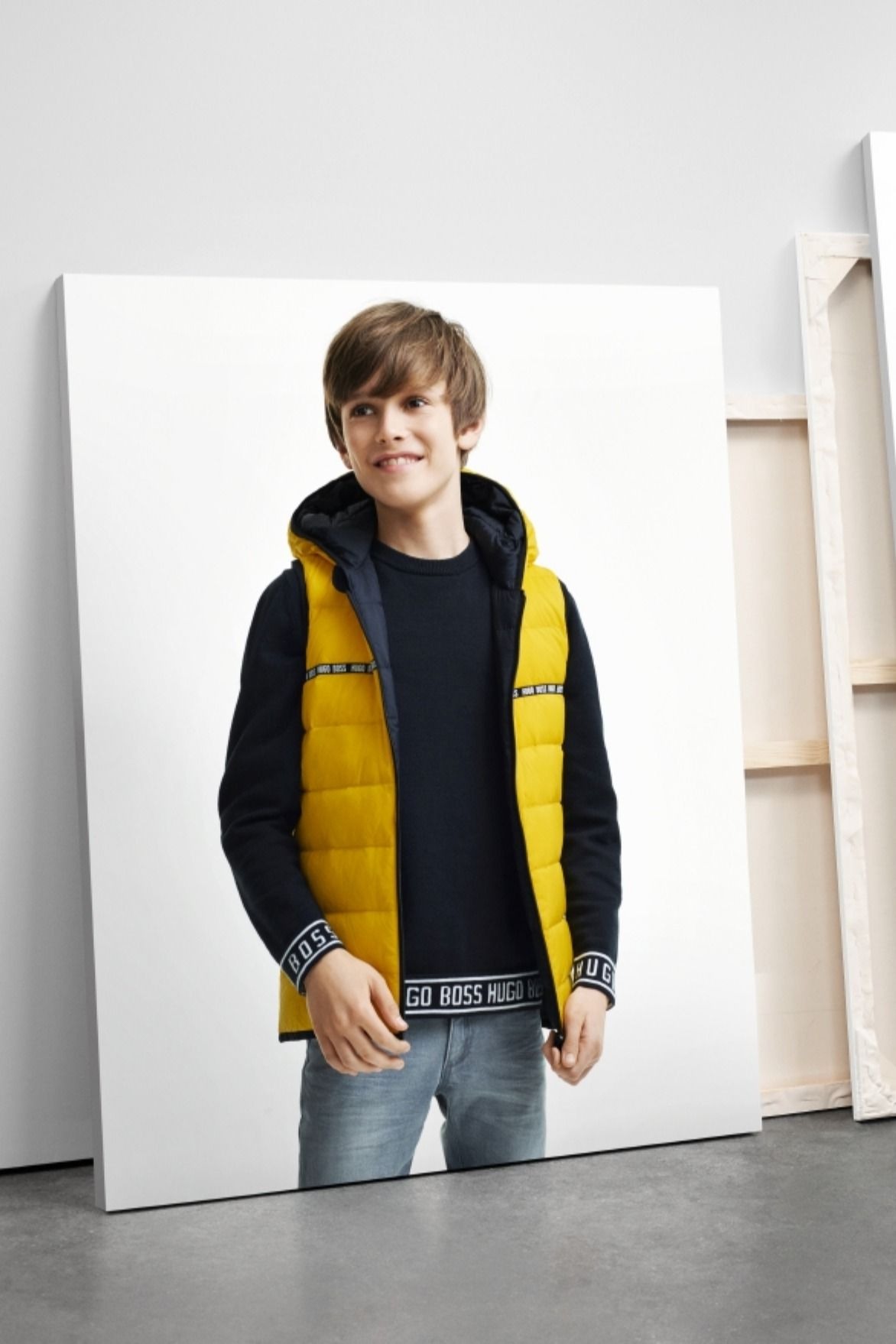 Discover The Boss Kidswear Fall Winter 2019 Collection Bosscurated Bosskids Kids Jacket Boy Fashion Outerwear [ 1758 x 1172 Pixel ]